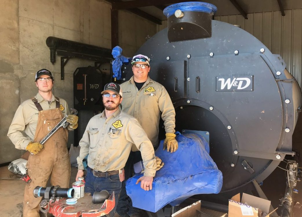 Boiler Works Team in front of W&D boiler